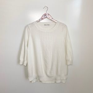 DOWNEAST Cream Ivory Knit Sweater! Medium